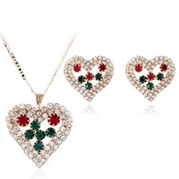 Wholesale Foreign Bride - Foreign Jewelry Necklace Jewelry Set Necklace Earrings Set full of love Korean bride jewelry inventory