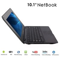 Wholesale Netbook Dhl - New 10.1 inch Netbook Laptop VIA8880 Dual-Core 1.5GHZ 1G RAM 8GB ROM Android 4.4.2 Wifi 10pcs lot Free DHL