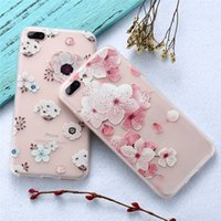 Wholesale Pattern For Flowers - Fashion Flower Patterned Case Soft Silicone Floral Protect Defender Cases Cover For iPhone X 8 7 6 6s Plus Phone Case
