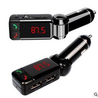 Wholesale car mp3 player handsfree online - MP3 Player LCD Handsfree carkit Bluetooth Car Kit FM Transmitter SD USB Charger speakerphone bloototh bleutooth Car hands free
