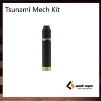 Wholesale V2 Brass - GeekVape Tsunami Mech Kit Black Ring V2 With Tsunami Pro RDA Brass Black Ring Plus Mechanical Mod For 510 Mode & Hybrid Mode 100% Original