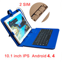 Wholesale Sim Card Pc Tablets - 10.1 inch tablet MTK6582 android IPS screen,2560*1600 4GB 64GB storage,3G Phone, dual SIM card, with Keyboard