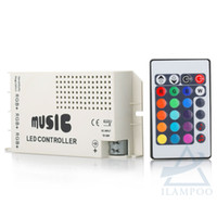 Wholesale music ir controller 24v resale online - 12 V Keys Wireless IR Remote Control LED Music Sound Control RGB led Controller Dimmer for RGB LED Strips