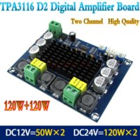 TPA3116D2 Dual-kanal Stereo High Power Digital Audio Endverstärker Board 2 * 120 Watt Großhandel Bord Bord Power 12