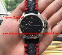 Wholesale Devil Watch - Real photo Devil strap NEW STRAP gmt Top quality Mechanical Men's Watches Pam GMT ALL BLACK 44mm equipped with automatic movement