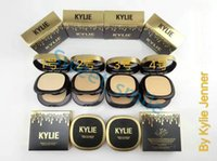 Wholesale Double Compact - Newest KYLIE Powder Plus Foundation DOUBLE Setting Powder By Kylie Jenner Face Makeup 4 Different Colors Matte Compact Powder Free shipping