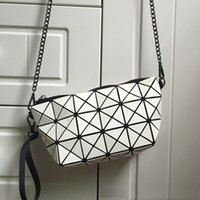 Wholesale Wholesale Mirrors Plain - Wholesale- 2015 New Women Fashion Geometry Package Sequins Mirror Saser Plain Folding Handbags Women Shoulder Bags