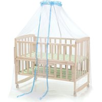 Wholesale Baby Crib Canopy Netting - Wholesale-Baby Mosquito Net Dome Palace type Landing Baby Crib Mosquito Nets Curtain Net for Toddler Crib Cot Canopy for protect newborn