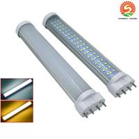 Wholesale T8 Led Tube 12w - 2G11 LED 10W 12W 15W 18W 22W Led Tubes Double Sides SMD2835 Led Fluorescent Lights AC 85-265V UL DLC