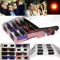 Wholesale usa papers - Paper Solar Eclipse Glasses 2017 USA Safe Solar Viewing Protect Your Eyes Safely view the solar on August 21th - OPP package WX-G14