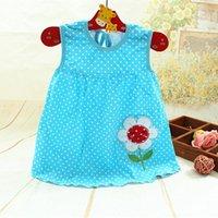 Wholesale Sunmmer Dress - Flower girls vest dresses Baby girls tutu dresses sunmmer kids dresses length 38cm