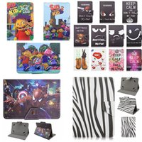 Universal Cartoon Zebra Animal PC Leather Wallet Case Cover para Ipad Sony 7