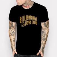 Wholesale Boys Shirts Designs - BILLIONAIRE BOYS CLUB T SHIRT BBC YOLO HIP HOP MEN Harajuku Style camisetas GOLD PRINT CASUALS DESIGN TEE Cheap sold
