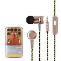 Wholesale Mp4 Metal - Original G63 Metal Bass Earbuds Microphone Stereo Bass Earphones for iPhone 6s for Samsung Huawei Xiaomi Piston Sport Earphones