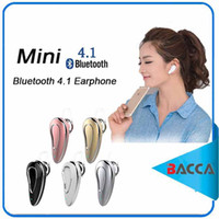 Wholesale General Wireless - Bluetooth headset mini wireless earphone earplug type 4.1 stealth mobile general intelligent voice driving microphone