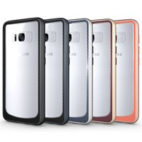 Wholesale Metal Bumpers - For Samsung Galaxy S8 Case Clear Hybrid Soft TPU + Metal Texture Bumper Case Cover For Samsung Galaxy S8 S8plus A7 J7 (2017)
