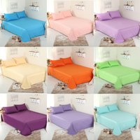 Wholesale Pure Linen Bedding - Bed Sheets Single Piece Pure Color Printing Cotton Bed Sheets Cotton Sheets Four Seasons Linen Cloth Various Colors To Choose