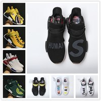 Wholesale Pw Black - 2017 Hot Sale NMD EOOOCX Pharrell Williams PW Boost Shark XR1 Duck Camo Birthda Human Race Fashion Casual Sports Running Shoes Size 40-45