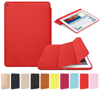 Barato Estojo De Ipad De Couro Premium-Premium Luxury Slim Smart Leather Stand Cover Silicone Back Case Cover para iPad Mini 4