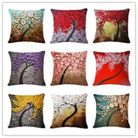 Wholesale Retro Flower Cushion Covers - Retro Painting Color Flowers Pillow Case Digital Printing Cushion Cover Diablement Fort Pillowslip For Bithday Gifts Bolster Non Core 7xr R