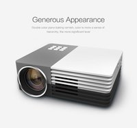 Wholesale 3d Dlp Projector - Wholesale- Mini Portable HD 1080P 3D LED Projector Perfect Home Theater Projector For Projector Movie Support HDMI VGA Portable beamer GM50