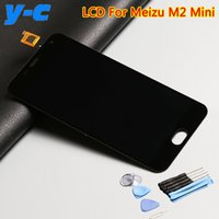 envio meizu al por mayor-Al por mayor- Para Meizu M2 Mini pantalla LCD + pantalla táctil nuevo digitalizador reemplazo del panel de vidrio para meizu m2 mini teléfono móvil - envío gratis