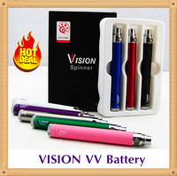 5 Pcs Retail Pack Vision Spinner Ego c twist cigarette électronique ego-c batterie torsadée 650 900 1100 1300 mah Variable Voltage 3.3-4.8V Vapes