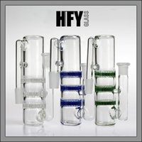 Wholesale Color Gift Boxes - 2015 New style Ash catcher 14.4mm 14mm 18mm 18.8mm triple three honeycombs glass ashcatcher bubbler different color quality free shipping