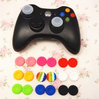 Wholesale grip cap button online - Universal game handle silicone cap PS3 PS4 XBOX ONE XBOX360 handle rocker button protection cap Controller silicone thumbstick grips