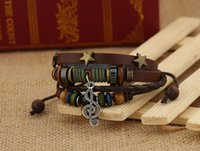 Wholesale China Girls Wear - Latest vintage Women , Men Girls leather Bracelets , Wear beads ,Weave Bracelet ,Jewelry ,gift,Adjustable size Z80
