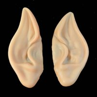 Wholesale Fairy Ears - PVC Fairy Pixie Elf Ears Accessories Halloween Cosplay Party Mask Soft Pointed Prosthetic Ears