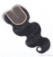 """Wholesale Handtied Brazilian Hair - Top closure 8A Brazilian virgin remy human hair top closure 3.5*4"""" body wave style 10""""-16"""" natural color dyeable handtied"""