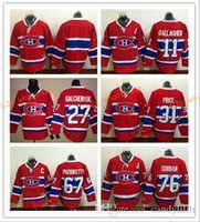 Wholesale Dry Laces - 2017 Cheap Cord NHL Montreal Canadiens #11 Gallagher 31 Price 76 subban 27 Galchenyuk 67 Pacioretty Lace Red White Hockey Jerse Stitched Mix
