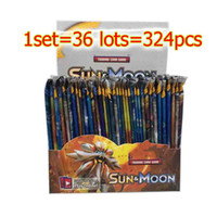 Wholesale Models Cartoon - 324pcs set New Poke Trading Cards Sun and Moon Model Poke Card for Children Kids Anime Cartoon Party Board Games Toys DHL
