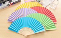 Wholesale Order Wholesale Paper Box - Free shipping Lovely paper mini summer men and women daily folding small fan ZS001 mix order as your needs