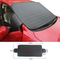 Wholesale Car Snow Brushes Scrapers - Car SUV Windshield Cover Snow Ice Protector Sun Shield Storage Pouch Windproof