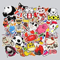 50 pcs Autocollants Cute Animal Hot sale Décor de maison Décoration de jouet Autocollant de télécommande Laptop Motorcycle Skateboard Doodle Diy Sticker