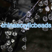 Wholesale Acrylic Beaded Garland - 120CM(4FT) Acrylic Plastic Crystal Diamond Beaded Branch Wire Acrylic Bead Garland Wedding Party Decor