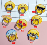 Wholesale Buckle Rings Sale - New Sale universal mobile phone creative personality funny emoji Emotion smile face ring Holder buckles Mobile phone stents