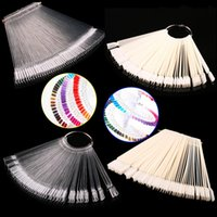 Wholesale Fans Tips - Wholesale-50pcs bag Nail Color Sample Nail Art Tips Display Practice Fan Nail Polish Nail Art Tools Practice Equipment cx600516