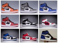 2017 Cheap Retro 1 OG Basketball Shoes Mens Womens Retro 1s High Banned Black Red White Sports Shoes Athletic Trainers Sneakers Retro 1