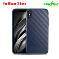 Wholesale Iphone Case Draw - Case For iPhone X TPU Carbon Fiber Drawing Material Fashion Design Shockproof Cover For iPhone 8 8 Plus 7 7Plus 6 6s plus