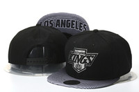 Wholesale leather logo sports hats caps - new Sale new Men's Los Angeles Kings Snapback Hat Team Logo Embroidery Sports Adjustable LA Hockey Caps Vintage Leather Visor Strap back Hat