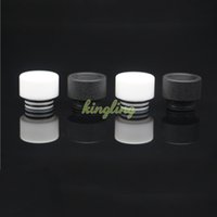 Wholesale Black Mouth Drip Tip - Wholesale Replacement Teflon Drip Tip for smok TFV8 TFV12 Cover Atomizer for Teflon Mouth piece Black White Colors E-cigarettes Mouthpiece