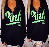 Wholesale Dropship Clothing Women - BLACK print Pink Letter Bts Hoodie Women Casual Hip Hop Hoody Tops Pullover Streetwear Harajuku Tracksuit Brand Clothing Sweatshirt Dropship