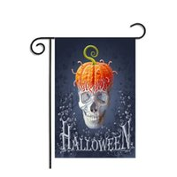 Wholesale Skeletons Props - Halloween Flags Banner Decorative Polyester Decoration Masquerade Hanging Prop Party Home Garden Decor Flag Supplies Skeleton Ornament