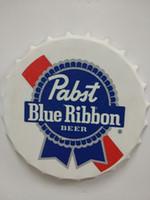 Wholesale Bottle Caps For Crafts - Pabst Blue Ribbon Beer round tin sign bottle cap design beer cap Beer Metal bar poster metal craft for home bar restaurant coffe shop