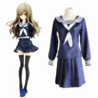 Wholesale Toradora Cosplay Costume - Aisaka Taiga cosplay costumes uniform Japanese anime Toradora clothing Masquerade Mardi Gras Carnival costumes blue