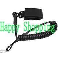 Wholesale Tactical Lanyards - Adjustable Tactical Secure Lanyard Spring Sling with magic tape Belt hanging buckle