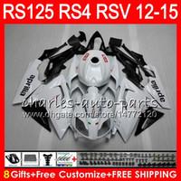 aprilia rsv weiße verkleidungen großhandel-Einspritzung für Aprilia RS4 RSV125 RS125 12 13 14 15 RS125R 12-15 RS-125 72NO12 RS125RR RSV 125 Perlweiß RS 125 2012 2013 2014 2015 Verkleidung